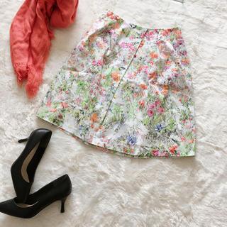 ANAYI - 美品*ANAI ボタニカルフラワー柄スカート