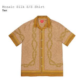 シュプリーム(Supreme)の定価以下 Supreme Mosaic Silk S/S Shirt Tan S(シャツ)
