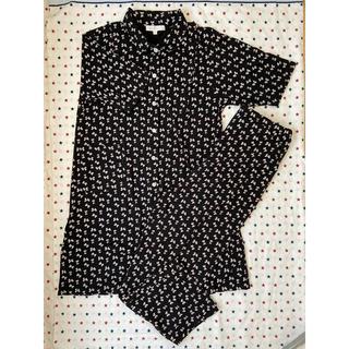 ニシマツヤ(西松屋)の授乳パジャマ 半袖L 黒(マタニティパジャマ)