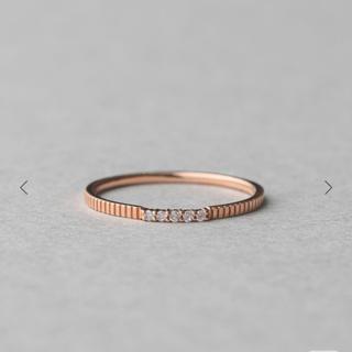 エテ(ete)のK10 ピンクゴールド リング(ダイヤモンド)(リング(指輪))