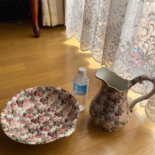 Ron Herman - 薔薇柄 陶器製 洗面器 エレガンス