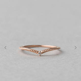エテ(ete)のK10 ピンクゴールド リング (ダイヤモンド)(リング(指輪))