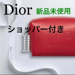 Christian Dior - ディオール 箱有り オリジナル スクエア ポーチ 2020 レッド チャーム付き