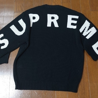 Supreme - back logo sweater
