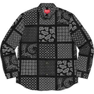 シュプリーム(Supreme)の【S】supreme Paisley Grid Shirt Black(シャツ)