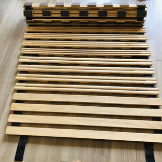 折りたたみベット すのこベッド シングル ロール ベッド 木製(すのこベッド)