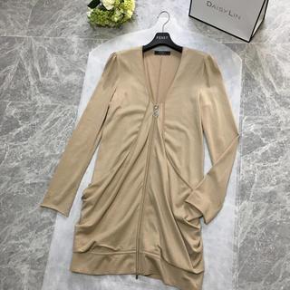 フォクシー(FOXEY)の美品 フォクシー FOXEY リーフ装飾 上質 ロング カーディガン 38(カーディガン)