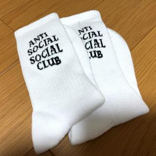 ANTI SOCIAL SOCIAL CLUB ソックス 白(ソックス)