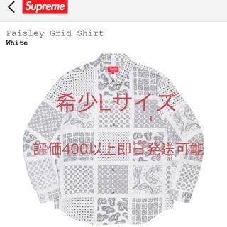 シュプリーム(Supreme)のpaisley grid shirt supreme Lサイズ(シャツ)