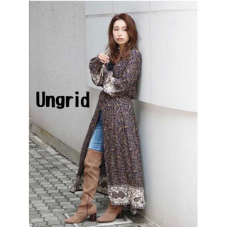 Ungrid - Ungrid アングリッド ペイズリープリントロングガウン