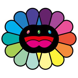 multicolor double face BLACK 村上 隆(版画)