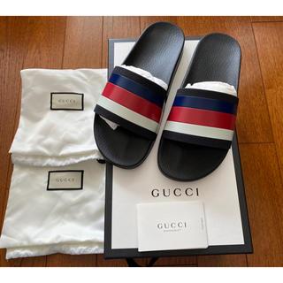 Gucci - 【新品未使用】グッチ スライド サンダル サイズ7 ストライプ