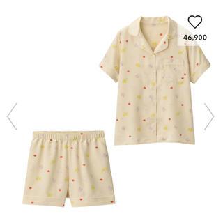 ジーユー(GU)のパジャマ(半袖&ショートパンツ)GU ポケモン L ナチュラル(キャラクターグッズ)