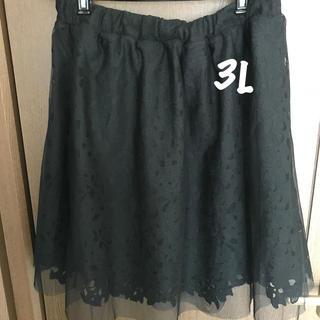 シマムラ(しまむら)の大きいサイズ★シフォンフラワースカート(ひざ丈スカート)