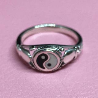 陰陽 オーバル シグネット シルバー925リング 印台 銀 指輪 ギフト ハンコ(リング(指輪))