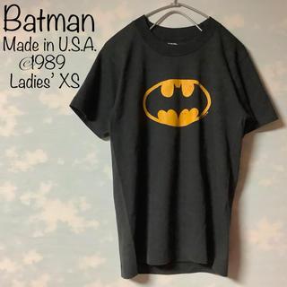 ディーシー(DC)のBATMAN Tシャツ USA製 80s 当時物バットマン ロゴマーク XS(アメコミ/海外作品)