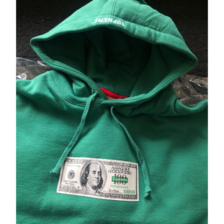 シュプリーム(Supreme)のsupreme Franklin Hooded Sweatshirt グリーン(パーカー)