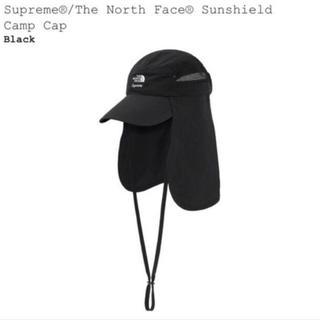 シュプリーム(Supreme)のSupreme North Face Sun Shield Camp Cap 黒(キャップ)