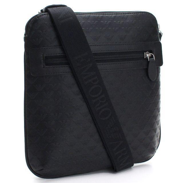 Emporio Armani(エンポリオアルマーニ)のEMPORIO ARMANI イーグル型押し フラット ショルダーバッグ メンズのバッグ(ショルダーバッグ)の商品写真