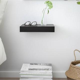 イケア(IKEA)のIKEA LACK  便利な装飾棚板 3枚セット 色ブラック(棚/ラック/タンス)
