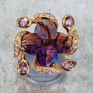 神戸老舗宝石店より驚きの低価格、洗練されたデザインのアメジストリングをお届け (リング(指輪))