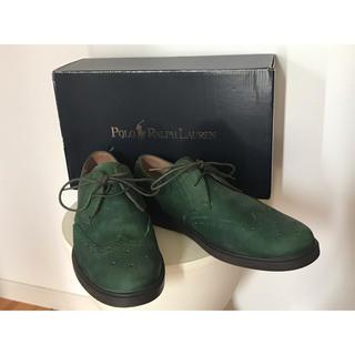 ポロラルフローレン(POLO RALPH LAUREN)のPolo Ralph Lauren メンズ レザーウイングチップブーツ グリーン(ブーツ)