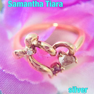 サマンサティアラ(Samantha Tiara)の⑩Samantha Tiara  リボン&ハート silverリング❤︎約11号(リング(指輪))