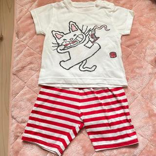アカチャンホンポ(アカチャンホンポ)のノンタン パジャマ はみがき 80 腹巻き付き(パジャマ)
