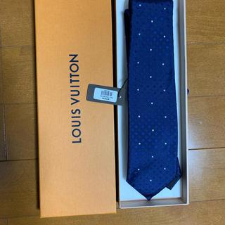 ルイヴィトン(LOUIS VUITTON)のルイヴィトン ネクタイ  箱付 新品未使用  ネイビー(ネクタイ)