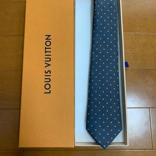 ルイヴィトン(LOUIS VUITTON)のルイヴィトン ネクタイ  箱付 新品未使用  シルバーグレー(ネクタイ)