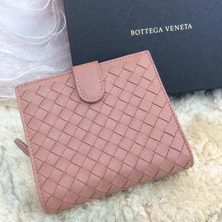 Bottega Veneta - 新品☆ボッテガヴェネタ コンパクト財布 ピンクベージュ