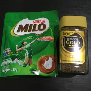 Nestle - 2個セット☆新品未開封品☆ミロ&ネスカフェゴールドブレンドコーヒー