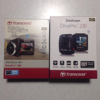 トランセンド(Transcend)の2台セット トランセンド ドライブレコーダー drivepro 200 230(車内アクセサリ)