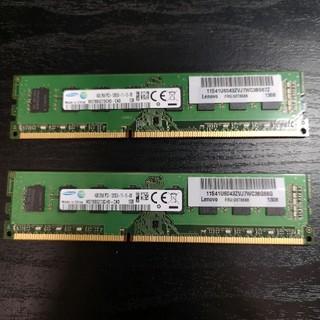 サムスン(SAMSUNG)のデスクトップPC用 物理メモリ(SAMSUNG) DDR3 PC3-12800(PCパーツ)