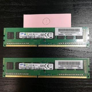 サムスン(SAMSUNG)のデスクトップPC用 物理メモリ(SAMSUNG) DDR3 PC3-12800①(PCパーツ)
