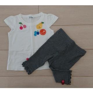 ファミリア(familiar)の【ファミリア】Tシャツ レギンス セット 80(Tシャツ)