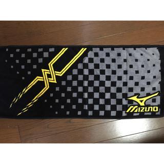 ミズノ(MIZUNO)のセット割有✴︎タオル✴︎ミズノ✴︎ブラック×イエロー(タオル/バス用品)