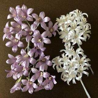 値下げしました!パープルのフリージアとヒヤシンスのシルクフラワー 造花(その他)