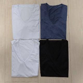 ユニクロ(UNIQLO)のユニクロ メンズ 肌着 半袖 4枚 M Vネック(その他)
