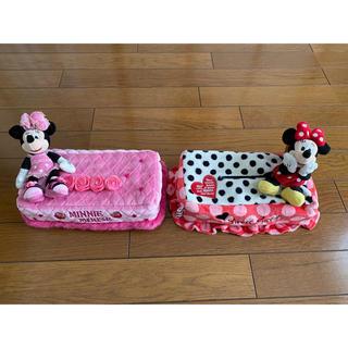 ディズニー(Disney)のティッシュボックスケース ミニー 2個セット(ティッシュボックス)