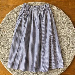 シマムラ(しまむら)のストライプスカート(ひざ丈スカート)