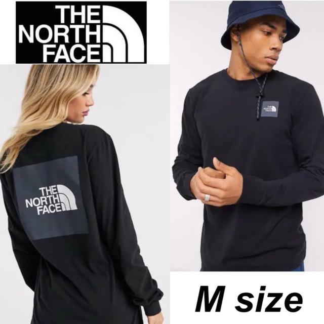 THE NORTH FACE(ザノースフェイス)のノースフェイス ボックスロゴ Tシャツ ロンT 長袖  ロングTシャツ ブラック メンズのトップス(Tシャツ/カットソー(七分/長袖))の商品写真