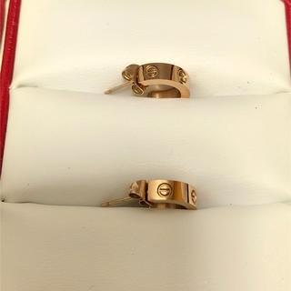 カルティエ(Cartier)の【最終値下げ価格】【美品】カルティエ ラブピアス二個セット(ピアス)