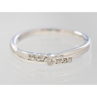 ヨンドシー(4℃)の質屋出品u 4℃ ヨンドシー 天然ダイヤモンドホワイトリングK10WG 8号 箱(リング(指輪))