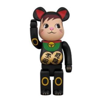 フジヤ(不二家)のBE@RBRICK 招き猫 ポコちゃん 黒 400%(その他)