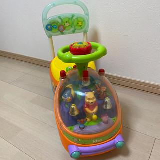 アイデス(ides)のくまのプーさん ハッピーベル 乗用玩具 手押し車(手押し車/カタカタ)
