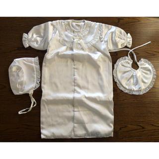 新生児用ベビードレス 3点セット 退院着 お宮参りに