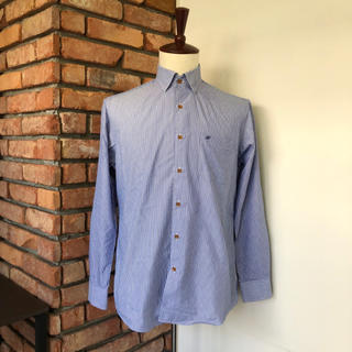 レノマ(RENOMA)の美品 renoma/レノマ 長袖シャツ ストライプ メンズ ブルー系(シャツ)