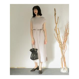 SENSE OF PLACE by URBAN RESEARCH - 【美品】SENSE OF PLACE モックネックフレンチスリーブワンピース