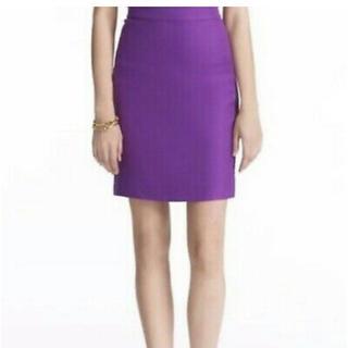 ケイトスペードニューヨーク(kate spade new york)のケイトスペード  紫リネンスカート(ひざ丈スカート)